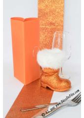 5M ruban orange paillette 10cm