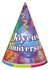 8 chapeaux joyeux anniversaire
