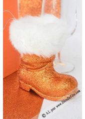 1 botte de père noel orange