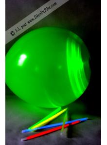 5 ballons lumineux vert