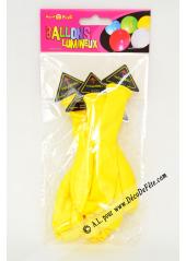 3 ballons lumineux jaunes