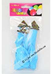 3 ballons lumineux bleus