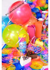 8 Assiettes à dessert joyeux anniversaire