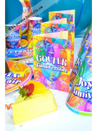8 cartes d'invitation joyeux anniversaire