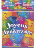 8 sacs à bonbons joyeux anniversaire