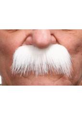1 Moustache épaisse blanche