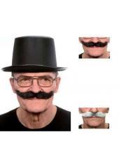 1 Moustache hongroise poivre & sel