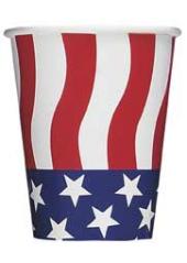 8 gobelets drapeau américain