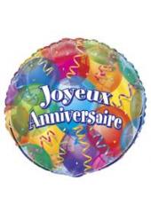 1 ballon hélium joyeux anniversaire