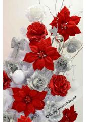 1 Poinsettia rouge 25cm