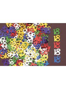 Confettis métal chiffres