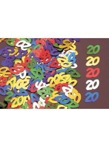 Confettis métal 20 ans