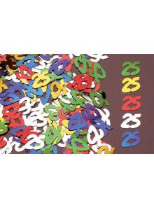 Confettis métal 25 ans