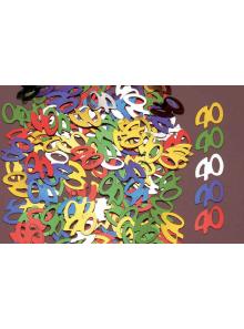 Confettis métal 40 ans
