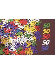 Confettis métal 50 ans