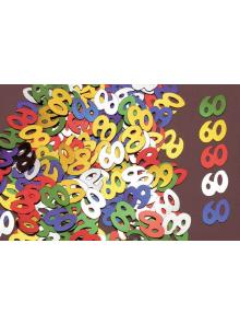 Confettis métal 60 ans