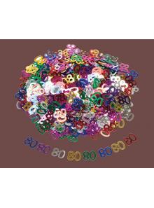 Confettis métal 80 ans