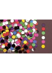 Confettis métal rond multicolores