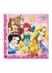 20 Serviettes Anniversaire Princesses