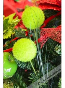1 branche de pompon vert anis