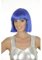 1 Perruque Crazy bleue