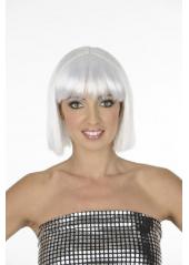 1 Perruque Crazy blanche