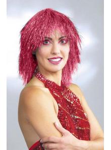 1 Perruque métallique rouge