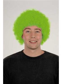 1 Perruque Pop Vert Fluo
