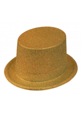 1 Chapeau Haut de forme Or