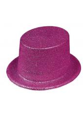 1 Chapeau Haut de forme Fuschia