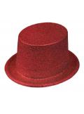 1 Chapeau Haut de forme rouge