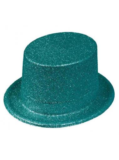1 Chapeau Haut de forme turquoise