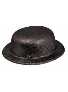 1 Chapeau melon noir paillettes