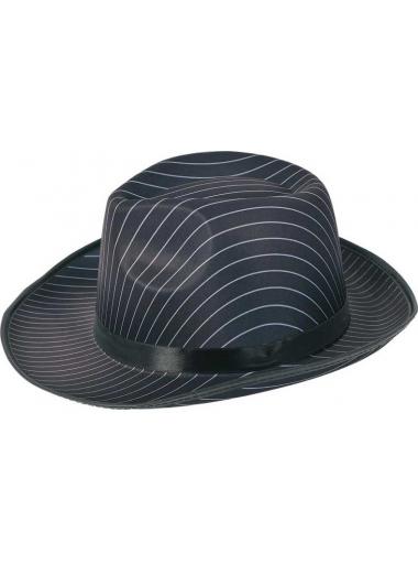 1 Chapeau Borsalino Rayé Noir & Blanc