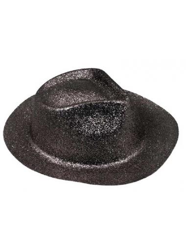 1 Chapeau Borsalino noir paillettes