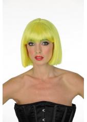1 Perruque Crazy jaune fluo