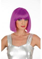1 Perruque Crazy violette fluo