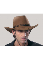 1 Chapeau de Cow Boy Marron Clair