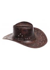 1 Chapeau de Cow Boy Vieux Cuir