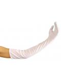 1 paire de Gants Longs Blancs