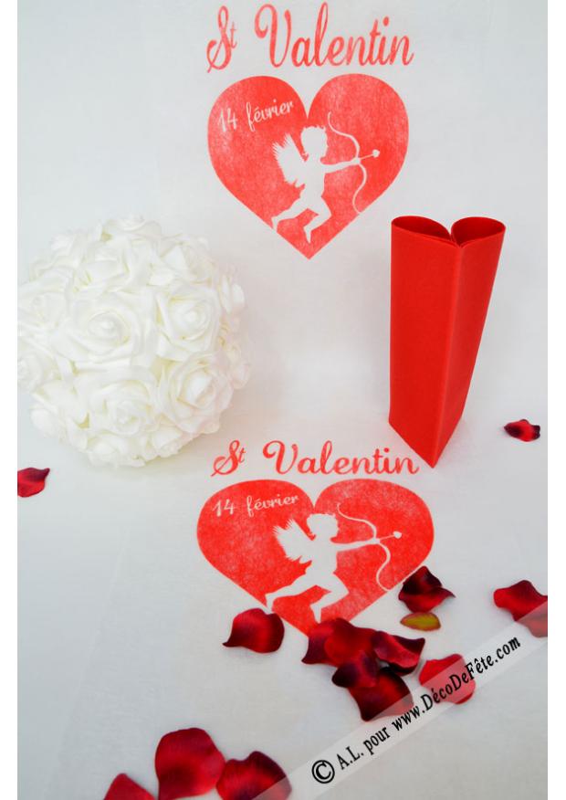 5m chemin de table saint valentin for Table saint valentin