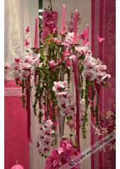 1 MINI Branche d'orchidée fushia
