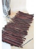 1 centre de table bois chocolat