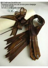 5 mini noeud organdi chocolat