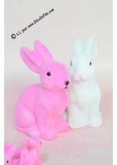 1 Lapin velours rose