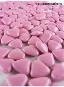 450gr Petits coeurs rose