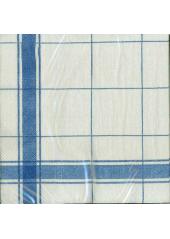 20 Serviettes imprimées torchon bleu