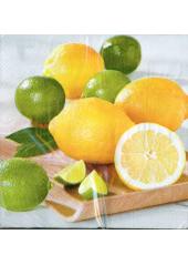 20 Serviettes imprimées Citron