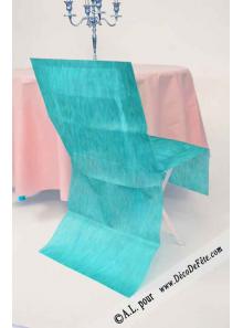 6 Housses de chaise turquoise