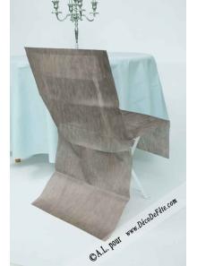 6 Housses de chaise gris